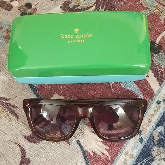 Kate Spade Burgundy Sunglasses with Case & Cleaner